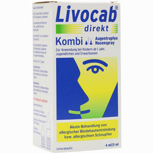 Abbildung von Livocab Direkt Kombi 4ml Augentropfen + 5ml Nasentropfen Kombipackung 1 Packung