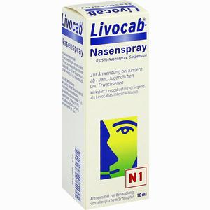Abbildung von Livocab Nasenspray  10 ml