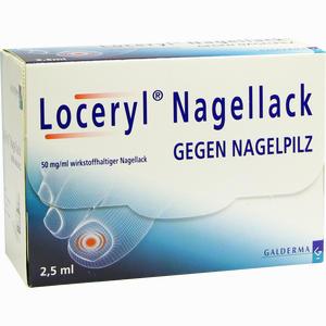 Abbildung von Loceryl Nagellack gegen Nagelpilz Lösung Galderma 2.5 ml