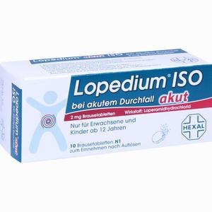 Abbildung von Lopedium Akut Iso bei Akutem Durchfall Brausetabletten 10 Stück
