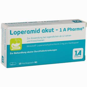 Abbildung von Loperamid Akut- 1a Pharma Kapseln 10 Stück