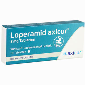 Abbildung von Loperamid Axicur 2 Mg Tabletten  Axicorp pharma 10 Stück