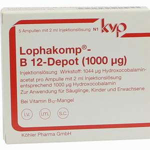 Abbildung von Lophakomp B12- Depot 1000mcg Injektionslösung 5 x 2 ml