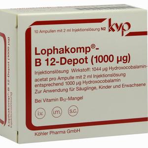 Abbildung von Lophakomp B12- Depot 1000mcg Injektionslösung 10 x 2 ml