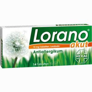 Abbildung von Lorano Akut Tabletten 14 Stück