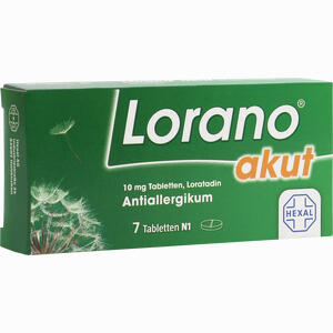 Abbildung von Lorano Akut Tabletten 7 Stück
