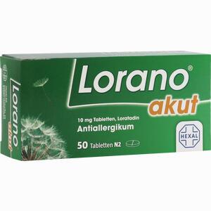 Abbildung von Lorano Akut Tabletten 50 Stück