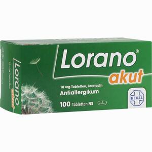 Abbildung von Lorano Akut Tabletten 100 Stück