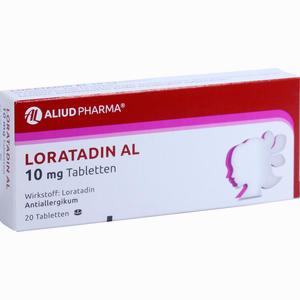 Abbildung von Loratadin Al 10mg Tabletten 20 Stück