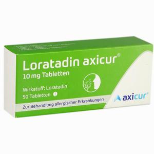 Abbildung von Loratadin Axicur 10 Mg Tabletten  Axicorp pharma 50 Stück