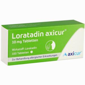 Abbildung von Loratadin Axicur 10 Mg Tabletten  Axicorp pharma 100 Stück