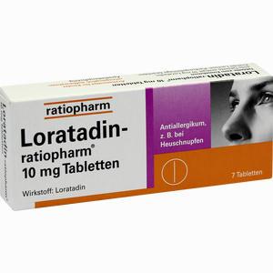 Abbildung von Loratadin- Ratiopharm 10mg Tabletten  7 Stück