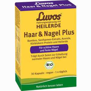 Abbildung von Luvos Heilerde Bio Haar & Nagel Plus Kapseln 30 Stück