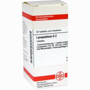 Abbildung von Lycopodium D2 Tabletten 80 Stück