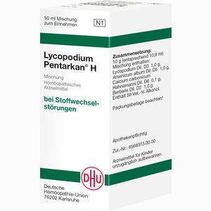 Abbildung von Lycopodium Pentarkan H Dilution 50 ml