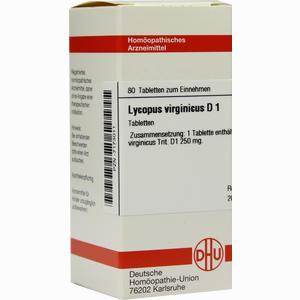 Abbildung von Lycopus Virginicus D 1 Tabletten 80 Stück