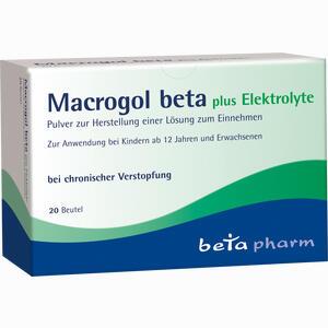 Abbildung von Macrogol Beta Plus Elektrolyte Pulver  20 Stück