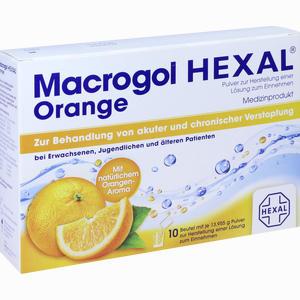 Abbildung von Macrogol Hexal Orange Beutel 10 Stück