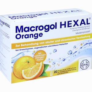 Abbildung von Macrogol Hexal Orange Beutel 20 Stück
