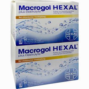 Abbildung von Macrogol Hexal Plus Elektrolyte Pulver  100 Stück