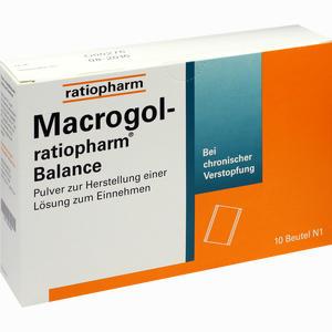 Abbildung von Macrogol- Ratiopharm Balance - Pulver zur Herstellung einer Lösung Zum Einnehmen  10 Stück