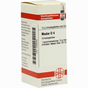 Abbildung von Madar D4 Globuli  10 g