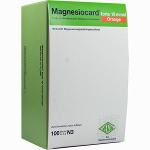 Abbildung von Magnesiocard Forte 10 Mmol Orange Pulver 100 Stück
