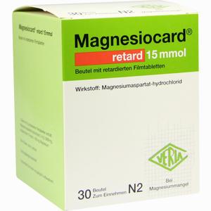 Abbildung von Magnesiocard Retard 15 Mmol Beutel  30 Stück