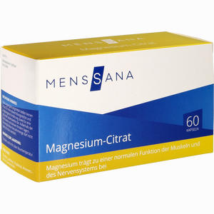 Abbildung von Magnesium- Citrat Menssana Kapseln 60 Stück