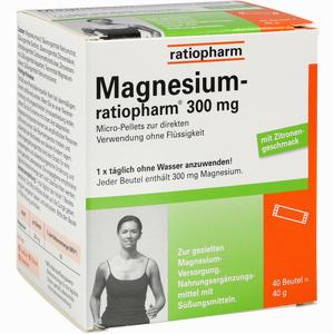 Abbildung von Magnesium- Ratiopharm 300mg Micro- Pellets M Gran.  40 Stück