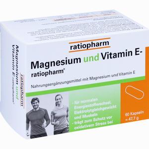 Abbildung von Magnesium und Vitamin E- Ratiopharm Kapseln  60 Stück