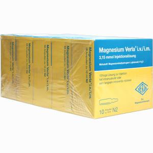 Abbildung von Magnesium Verla Ampullen 50 x 10 ml