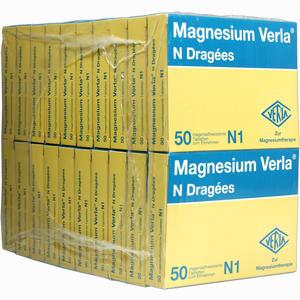 Abbildung von Magnesium Verla N Dragees 20 x 50 Stück