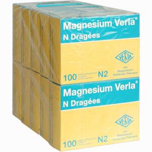 Abbildung von Magnesium Verla N Dragees 10 x 100 Stück