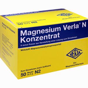 Abbildung von Magnesium Verla N Konzentrat Granulat 50 Stück