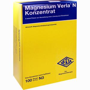 Abbildung von Magnesium Verla N Konzentrat Granulat 100 Stück