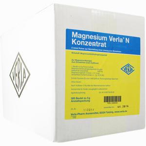 Abbildung von Magnesium Verla N Konzentrat Granulat 500 Stück