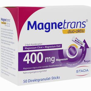 Abbildung von Magnetrans Duo- Aktiv 400mg Granulat 50 Stück