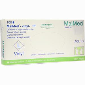 Abbildung von Maimed- Vinyl Puderfrei Groß Unsteril Handschuhe 100 Stück