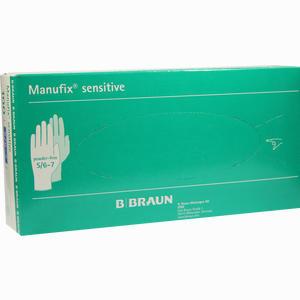 Abbildung von Manufix Sensitive Untersuchungshandschuhe Puderfrei Gr. S (6- 7)  100 Stück
