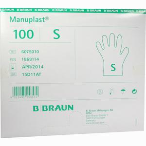 Abbildung von Manuplast Einmalhandschuhe Pe Gr. S  100 Stück