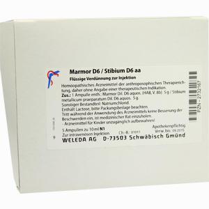 Abbildung von Marmor D6 Stibium D6 Aa Ampullen 5 x 10 ml