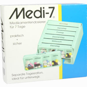 Abbildung von Medi- 7 Medikamentendosierer Türkis 1 Stück