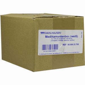 Abbildung von Medikamentenbox (weiß) für 1 Woche 1 Stück