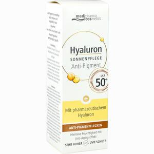 Abbildung von Medipharma Cosmetics Hyaluron Anti- Pigment- & Anti- Age Sonnenpflege Gesicht Lsf 50+  50 ml
