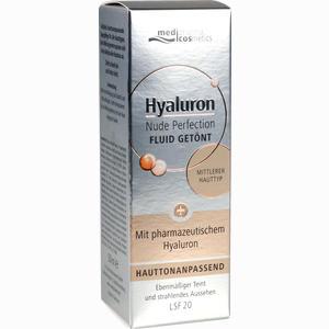 Abbildung von Medipharma Cosmetics Hyaluron Nude Perfection Getöntes Fluid Mittlerer Hauttyp Lsf 20 Creme 50 ml
