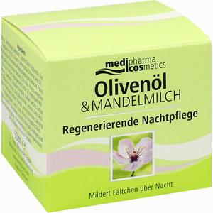 Abbildung von Medipharma Oliven- Mandelmilch Regenerierende Nachtpflege Nachtcreme 50 ml