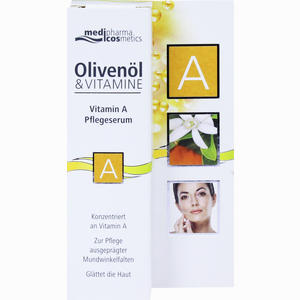 Abbildung von Medipharma Olivenöl Vitamin A Pflegeserum Creme 15 ml