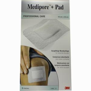 Abbildung von Medipore + Pad 3m 10cmx20cm Pflaster 5 Stück