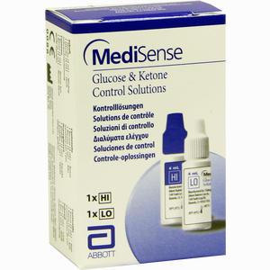 Abbildung von Medisense Kontrolllösungen Glucose + Ketone H/L 2 FL